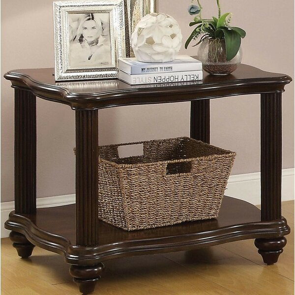 Laidley Lower Shelf Wooden End Table by Darby Home Co