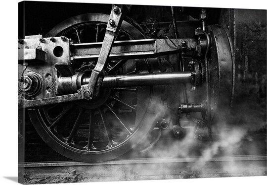 Locomotive Breath by Holger Droste Photographic Print on Canvas by Canvas On Demand