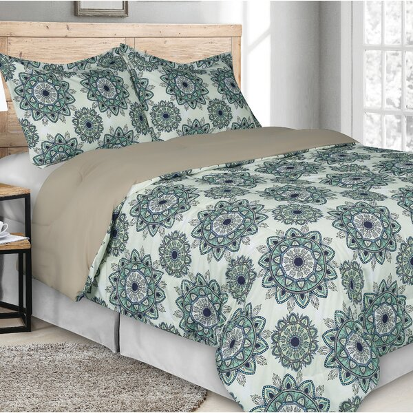 Polite Goose Down Alternative Rich Printed Comforter Set by World Menagerie