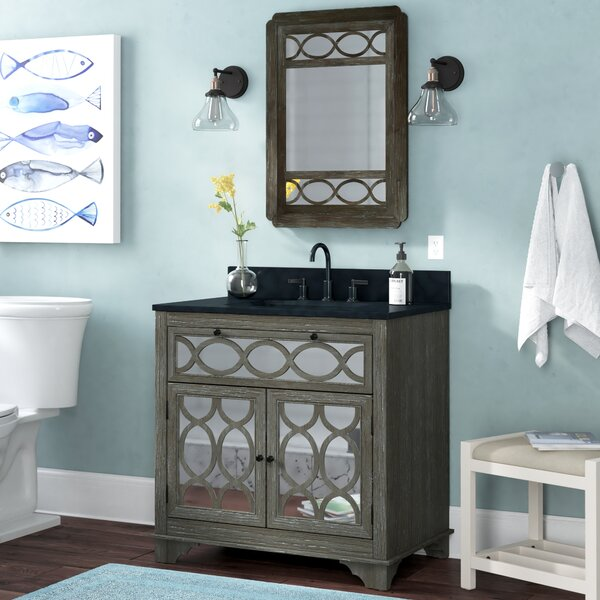 Shaughan Solid Elm 36 Single Bathroom Vanity Set with Mirror by Highland Dunes