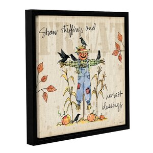 Be Thankful I Framed Painting Print on Wrapped Canvas by August Grove