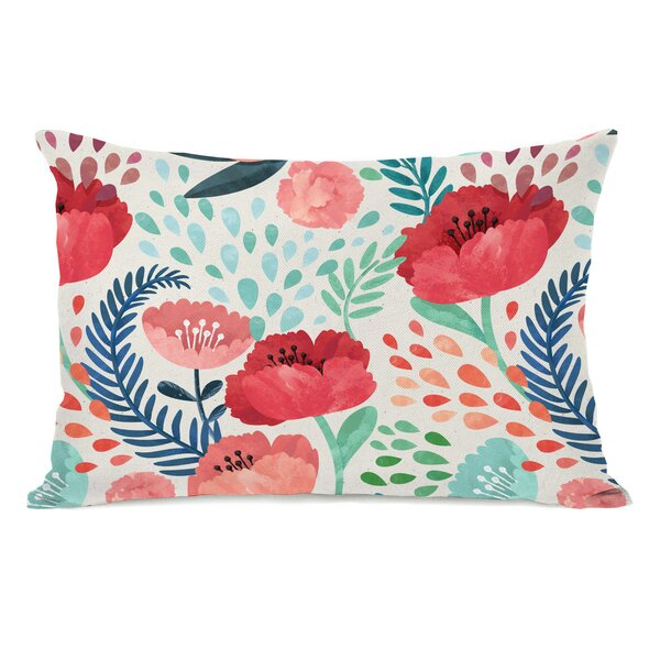 Osteen Florals Outdoor Lumbar Pillow by Ebern Designs