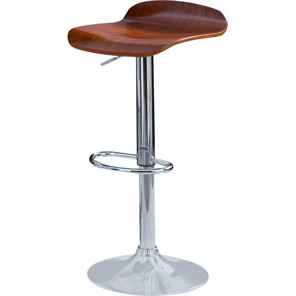 Beth Adjustable Height Swivel Bar Stool (Set of 2) by Zipcode Design