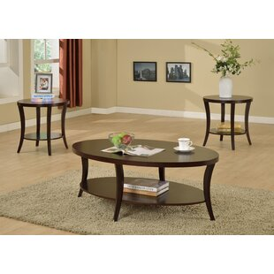 Affordable Rhonda 3 Piece Coffee Table Set ByCrown Mark
