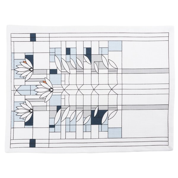 Water Lilies Printed 17 Placemat (Set of 4) by Frank Lloyd Wright