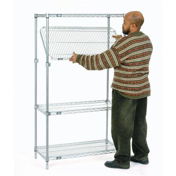 E-Z Adjust Wire 4 Shelf Shelving Unit Starter by Nexel