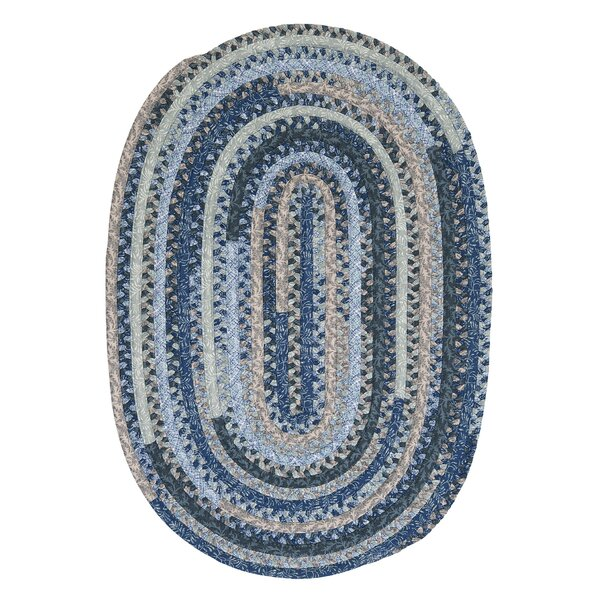 Print Party Ovals Blue Area Rug by Colonial Mills