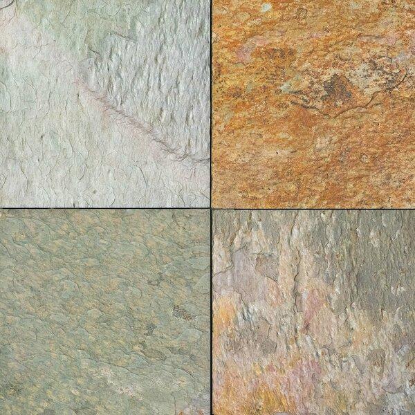 Kashmir Natural Cleft Face, Gauged Back 12x12 Slate Field Tile