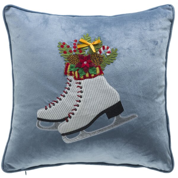 Holiday Skates Throw Pillow by The Holiday Aisle