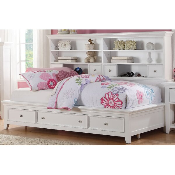 Congdon Mates Bed with Drawers and Bookcase by Harriet Bee