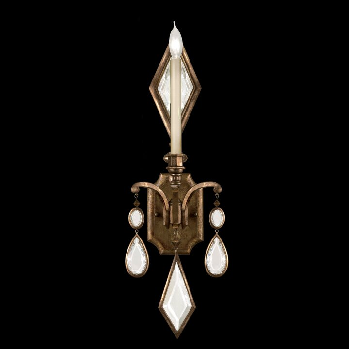 Encased Gems 1-Light Candle Wall Light