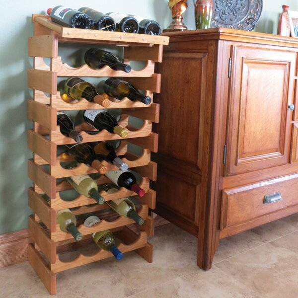 Geis 16 Bottle Floor Wine Bottle Rack by Symple Stuff Symple Stuff