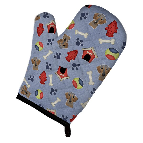 Dog House Wirehaired Dachshund Oven Mitt by Caroline's Treasures