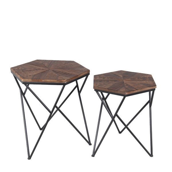 Lawrence 2 Piece End Table Set by Union Rustic