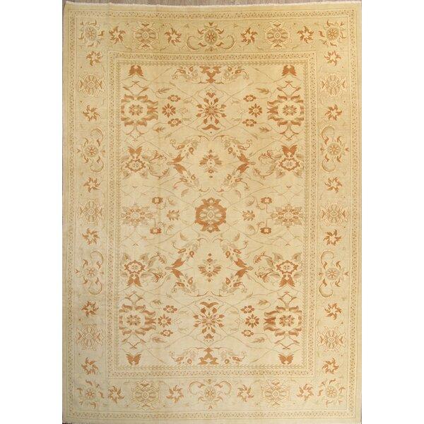 One-of-a-Kind Tarakan Oushak Peshawar Ziegler Oriental Hand-Knotted Wool Beige/Ivory Area Rug by Bloomsbury Market