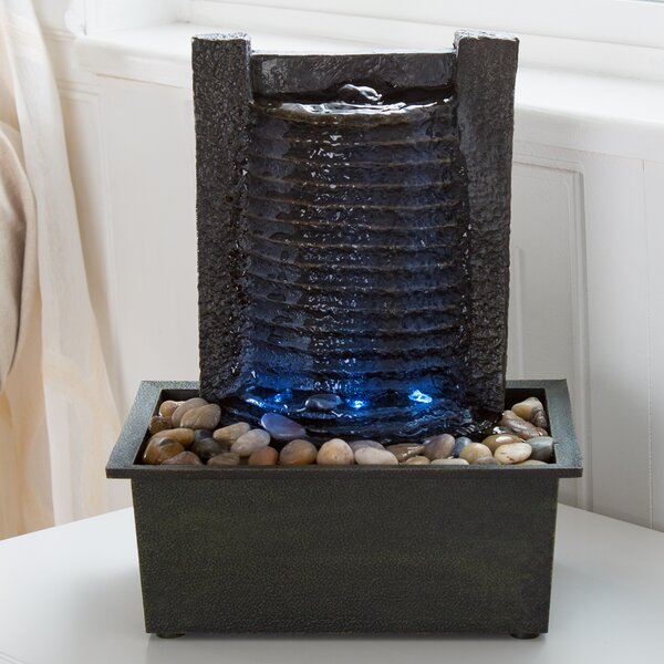 Resin/Acrylic Waterfall Tabletop Fountain by Pure Garden
