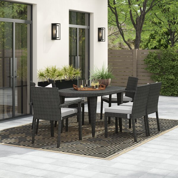 Byrne Outdoor 7 Piece Dining Set by Wrought Studio Wrought Studio