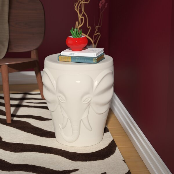 Pottorff Wild Elephant Garden Stool by World Menagerie World Menagerie