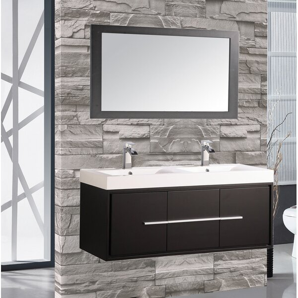 Peirce 48 Single Floating Bathroom Vanity Set with Mirror by Orren Ellis