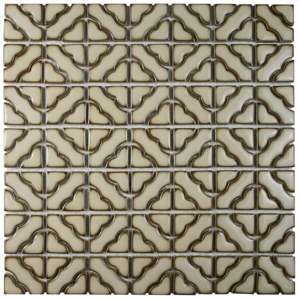 Jericho Porcelain Mosaic Tile in Beige by EliteTile