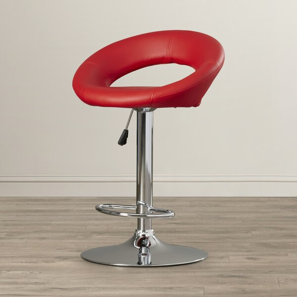 Peralta Adjustable Height Swivel Bar Stool by Wade Logan