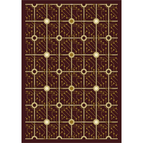 Brown Electrode Area Rug by The Conestoga Trading Co.
