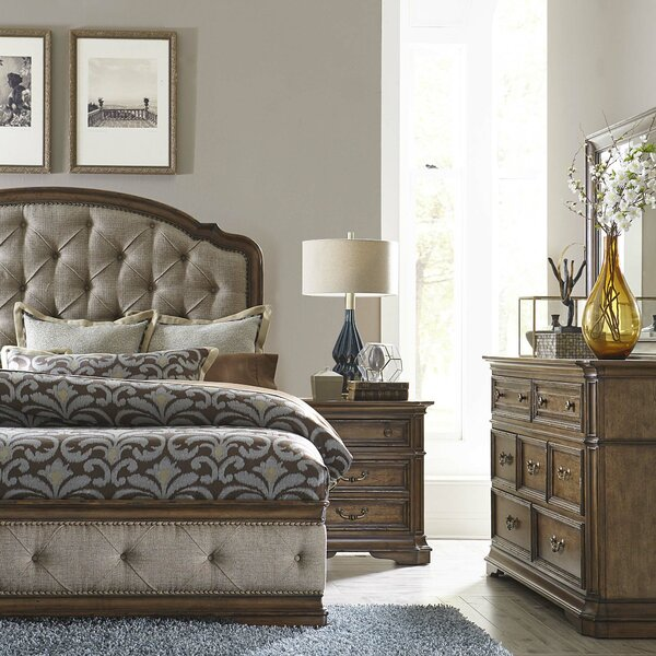 Blenheim Upholstered Panel Headboard by Astoria Grand
