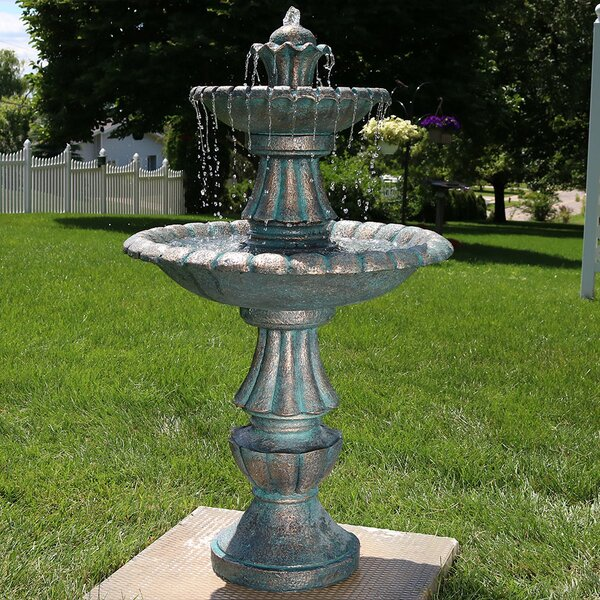 Fiberglass Nouveau Tiered Garden Water Fountain by Wildon Home ®