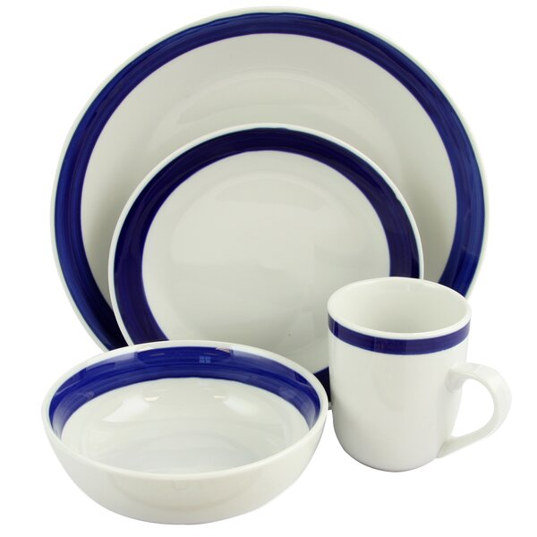 Gibson Basic Living 16 Piece Dinnerware Set, Service for 4 by Coca Cola