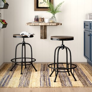 Outstanding Garth Adjustable Height Swivel Bar Stool Set Of 2 Squirreltailoven Fun Painted Chair Ideas Images Squirreltailovenorg