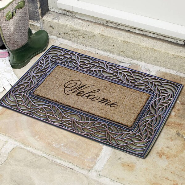 Welcome Decorative Doormat by A1 Home Collections LLC