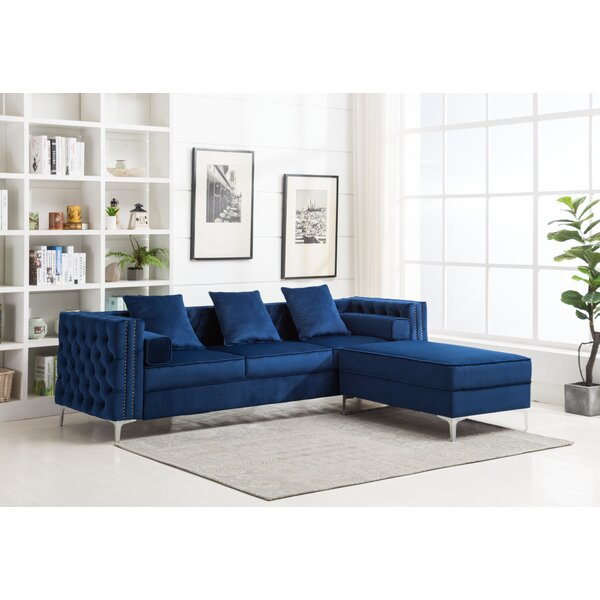 Best Offer Zaida Reversible Sectional by House of Hampton by House of Hampton