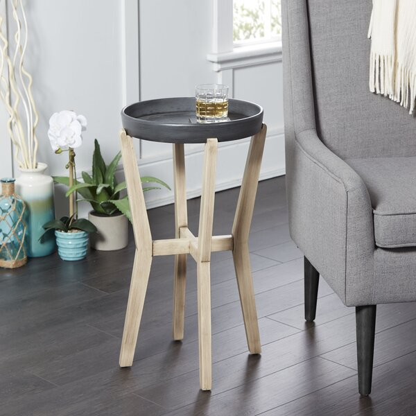 Layne Tall Round End Table by Union Rustic