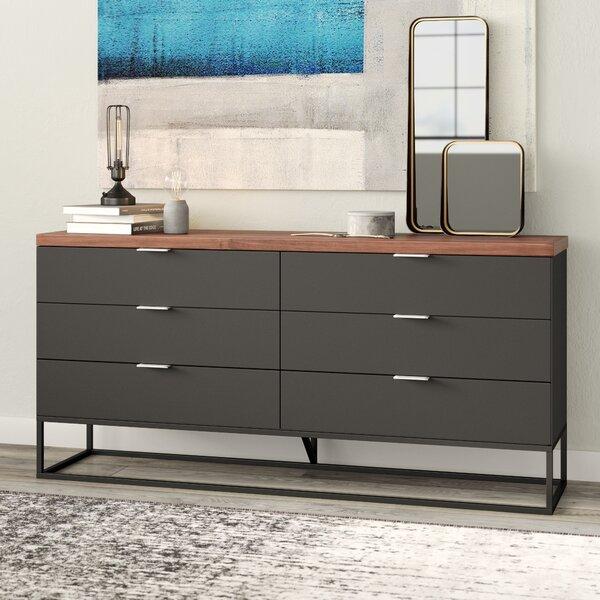 Amanda 6 Drawer Double Dresser by Modern Rustic Interiors