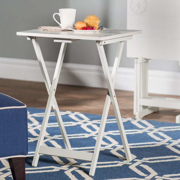 Ally 5 Piece TV Tray Table Set with Compass by Bre