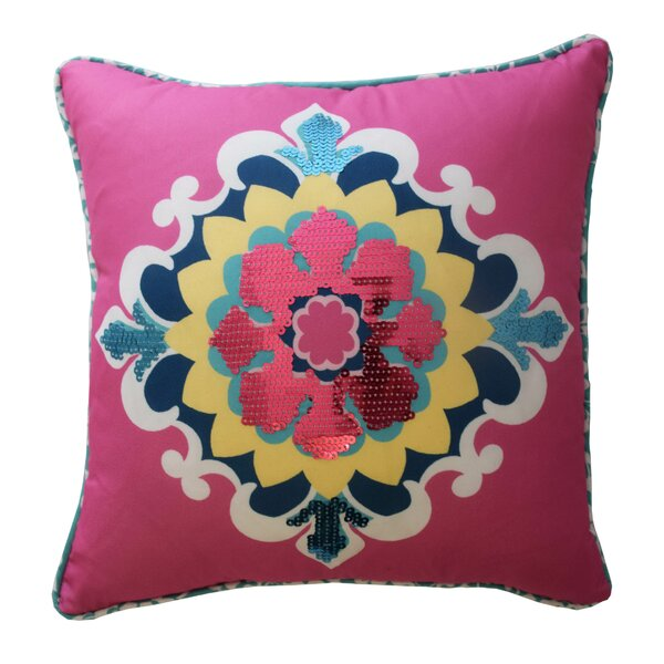 Bollywood Sequin Polyester Throw Pillow by Waverly