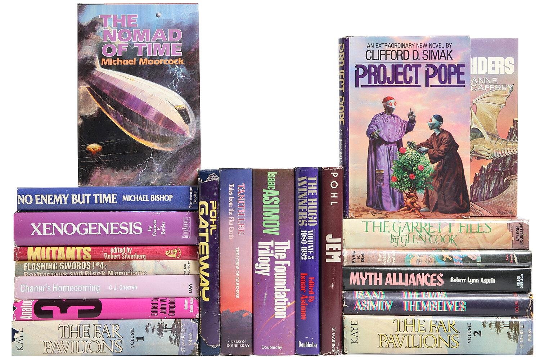Booth Williams 20 Piece Custom Set Berry Toned Sci Fi Mix Authentic Decorative Book Perigold