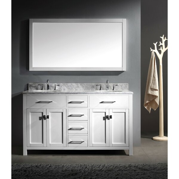 Borough Park 60 Double Bathroom Vanity Set with Mirror by Brayden Studio