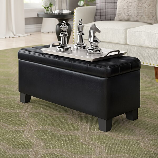 Pina Faux Leather Storage Ottoman by Ebern Designs