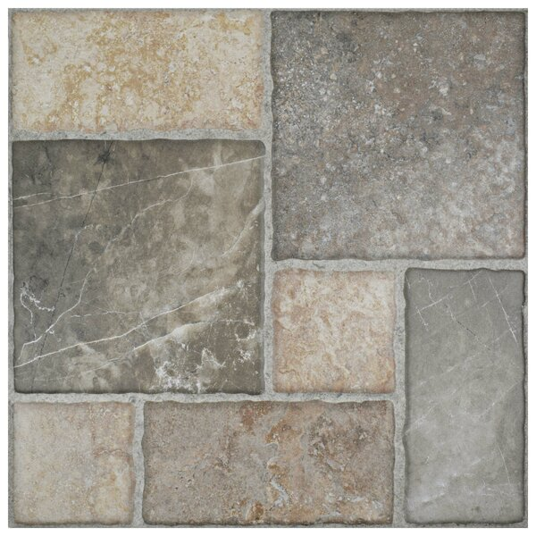 Catalan 17.75 x 17.75 Ceramic Field Tile in Gray/Beige by EliteTile