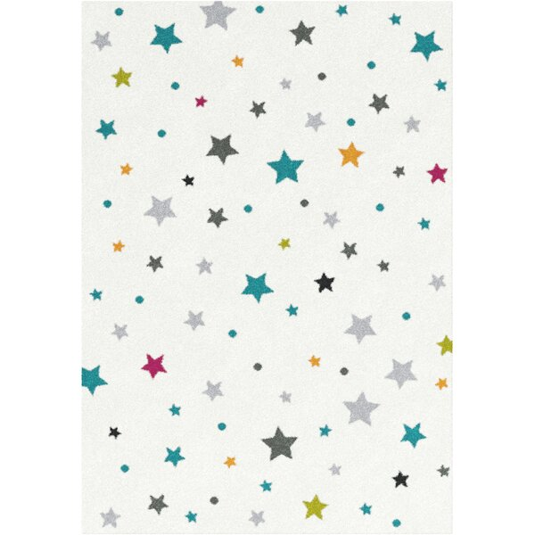 Tenth Avenue White Area Rug by Harriet Bee