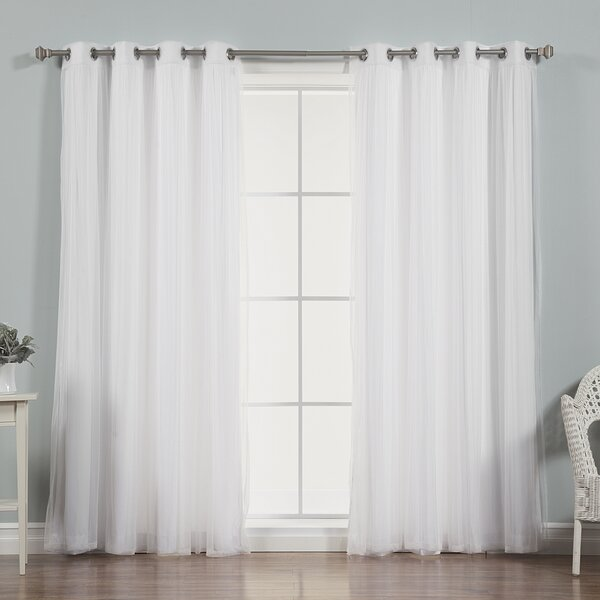 Best Home Fashion, Inc. Mix And Match Tulle Semi Sheer Grommet Curtain  Panels U0026 Reviews | Wayfair