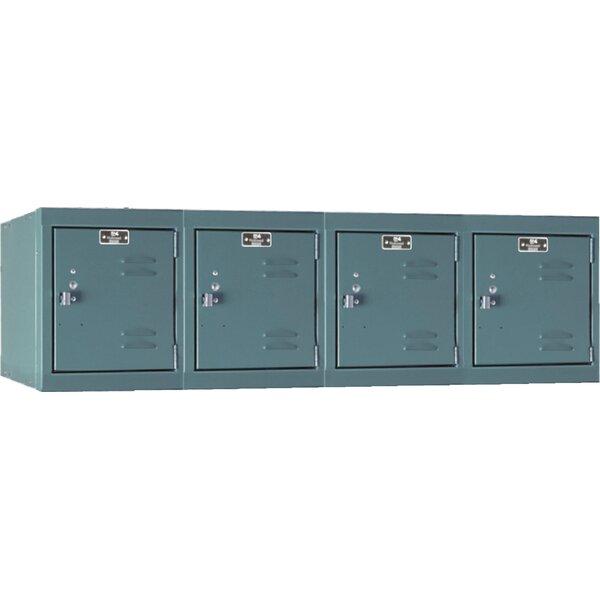 Premium 1 Tier 4 Wide Employee Locker by Hallowell