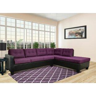 Chaise Sofa Purple Sectional Sofas
