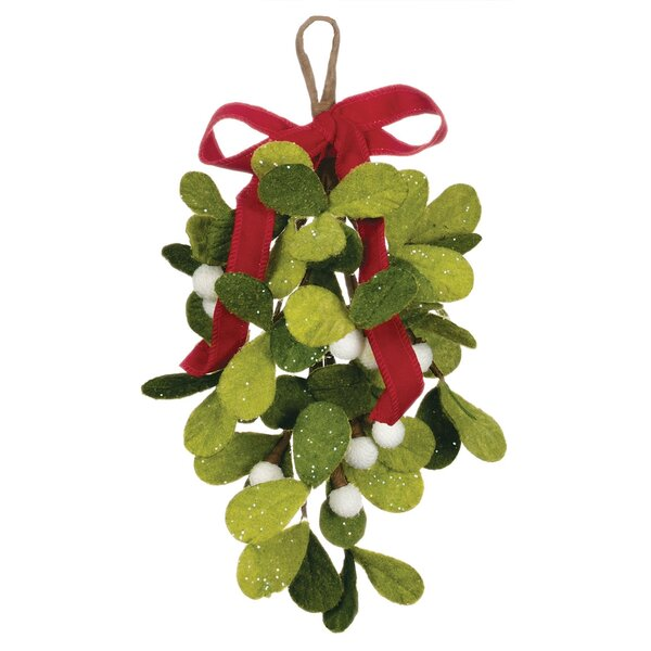 Mistletoe Drop Swag (Set of 2) by The Holiday Aisl