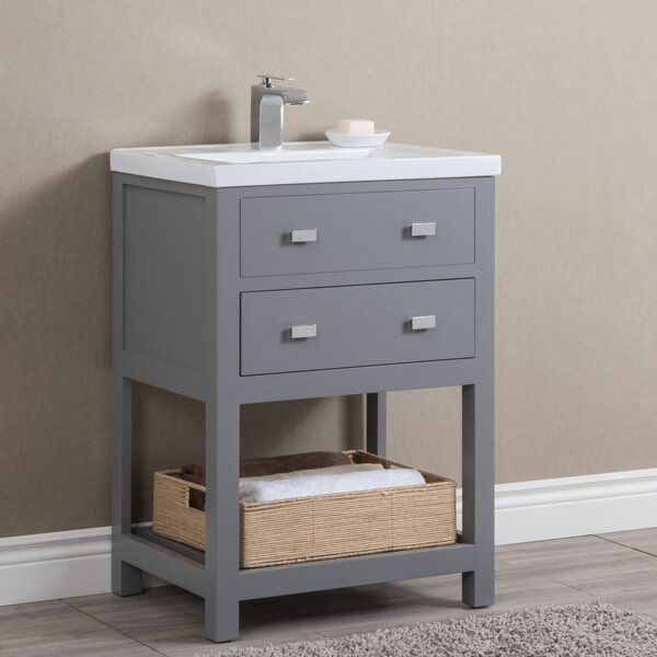 Knighten Modern 24 Single Bathroom Vanity Set by Zipcode Design