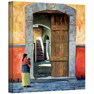 'Guanajuato Door' by Rick Kersten Painting Print on Wrapped Canvas by ArtWall