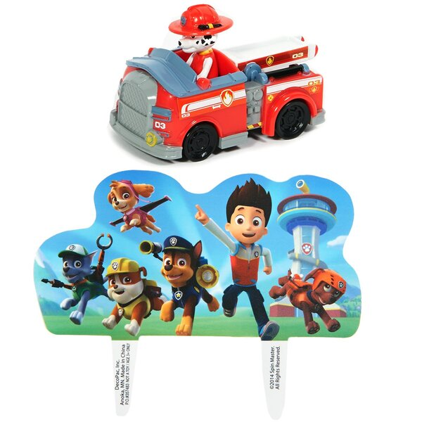 2 Piece Paw Patrol Plastic Disposable Cake Topper Set [NA]