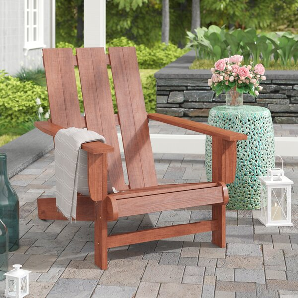 Rothstein Solid Wood Adirondack Chair by Beachcrest Home Beachcrest Home