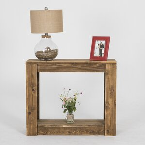 Lamoreaux Rustic Knotty Console Table by Loo..